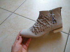 Low boots bottines femme DKODE en 37 gris white Sachi chaussures lagenlook NEUF