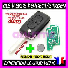 Clé Vierge CE0523 citroen C1 C2 C3 C4 C5/ Peugeot 207 208 307 308 sans rainure
