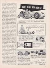 1960 Dart-Kart Twin-700 Go-Kart Ad/ Aj Watson with 1950 Indy 500 Winning Car