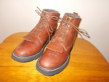 Women's Ariat ATS 31080 Brown Leather Lace Up Kiltie Roper Ankle Boots Size 8B