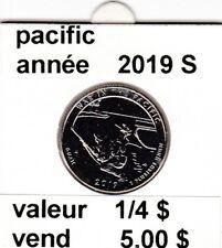 pieces de 1/4 $ pacific  2019 S