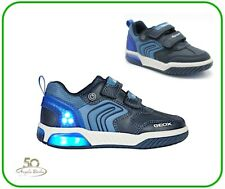 Geox Shoes with Led Lights from Child Sneakers Inek J for Boy Kids