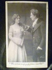1904 Theatre Postcard-Mice and Men:Gertrude Elliott & Forbes Robertso(+Stamp