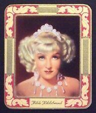 Hilde Hildebrand 1934 Garbaty Film Star Series 2 Embossed Cigarette Card #18