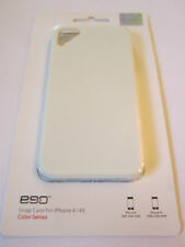 White Ego iphone 4 4G 4S Hard Plastic Full Back Snap-On Case & Factory Packaging