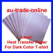 10Sheets A4 Size T-SHIRT HEAT TRANSFER LASER PRINTER PAPER ON DARK COLOR FABRICS