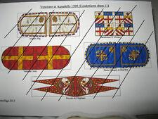 28mm guerre italiane del Rinascimento veneziano a Agnadello 1509 Bandiere