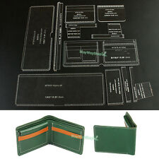 Acrylic Craft Pattern Card Holder Leather templates 915-A TO make Bifold Wallets