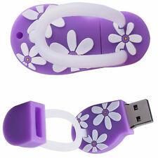 8Go USB 2.0 Clé USB Clef Mémoire Flash Data Stockage / Savatte Sandale Mauve