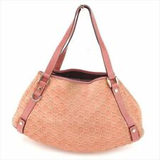 Gucci Tote bag Guccissima Pink Suede Leather Woman Authentic Used T7451