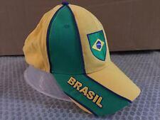 CAPPELLO BANDIERA BRASILE VISIERA CAPPELLINO HAT VERDE GIALLO ab71b981162a
