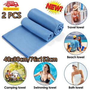 2X Super Absorbent Towel Microfiber Cleaning Car/Bath/Beach Wash Drying Towels!