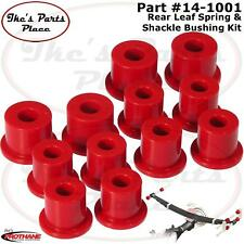 Prothane 14-1001 Rear Spring Eye &Shackle Bushing Kit for 80-86 Datsun/Nis Truck
