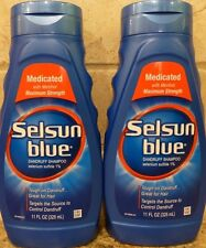 (2) Selsun Blue Dandruff Shampoo - Medicated With Menthol - 11 oz