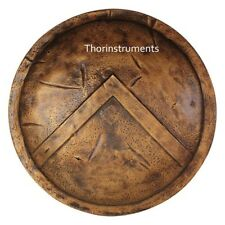 "24""Medieval 300 Spartan Shield Antique Brass Finish"