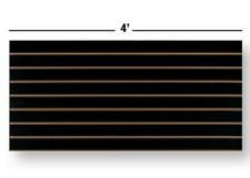 """2 Slatwall Easy Panels - 24"""" H x 48"""" W (Black Finish)"""