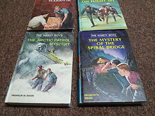 FRANKLIN W. DIXON 4 hardcover blue top edge SERIES: THE HARDY BOYS ©1960's