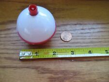 "100 2"" FISHING BOBBERS Round Floats Red / White SNAP ON FLOAT Bulk Pack"