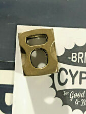 Brand New Lucas Burnley Cypop Bead Brnly Brass New Landyard Paracord