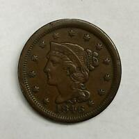 1846 Braided Hair Large Cent 1¢ Extremely Fine