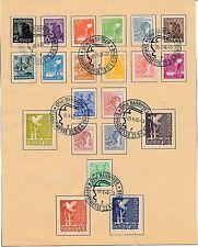 Deutsche Briefmarken der alliierten Besatzung mit Sonderstempel für Post, Kommunikation