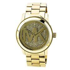 Michael Kors MK5706 Feminino Runway Dourado Com Mostrador Em Tons De Ouro  Aço inoxidável 65e2e37199