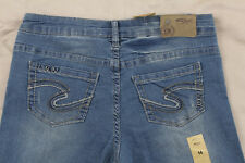 NWT Silver Tammy Boot Cut Size 26 Medium Wash Stretch Jeans Inseam 28