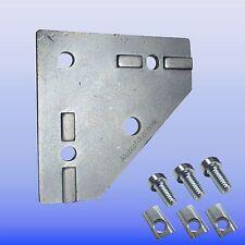 Knotenblech für Item Alu- Profil 40x40 Nut 8 Aluminiumprofil Eckverstärkung