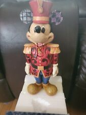 "Disney Jim Shore Salutations Mickey Mouse Nutcracker 10"" Nrfb Retired 4027918"