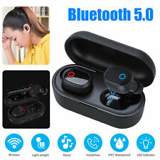 Bluetooth 5.0 Wireless Stereo Earbuds Earphones Headphones For Samsung iPhone