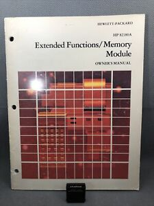 HP 82180A Extended Functions X-Memory HP 41C CV Calculator with Manual
