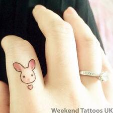 Piccolo Conigli Coniglietti Cartoon Tatuaggio Temporaneo Finte Adesivo Art Body Bambino Adesivo