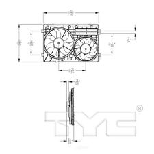 Dual Radiator and Condenser Fan Assembly TYC 621460