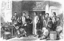 CHINA. Entertainment, Lin-Cong, antique print, 1859