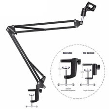 Neewer Micphone Suspension Boom Scissor Arm Stand with Wind Screen Pop Filter