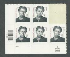 3432 Hattie Caraway VF PLATE BLOCK and SINGLE perforated 11.5x11 Mint NH