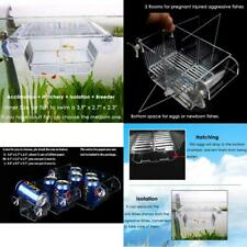 Fish Breeding Box Acrylic Fish Isolation Box with Suction Cups Baby Fishes