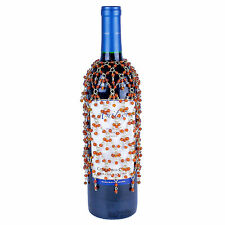 ORANGE BEADED DOUBLE DANGLE WINE BOTTLE COVER SKIRT Many Styles Available