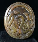 Chinese old Rare jade hand-carved pendant necklace statue turtle 873
