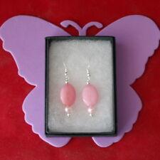 Beautiful Earrings With Morganite & Pink Pearls  6 Gr. 3.2 Cm. Long + Hooks