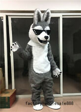 fursuit Gray Fur Husky Dog Mascot Costume suits Fox Adults Fancy dress Unise