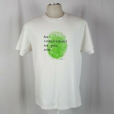 Vtg 90s Providian Financial Bank Thumb Print T-Shirt L White Individual You Are