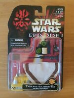 STAR WARS EPISODE 1 TPM Tatooine Accessory Set Carded With Pull-Back Droid new