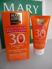 MARY COHR CREME SOLAIRE VISAGE SUN PROTECTION SCREEN SPF FPS 30 FACE CREAM