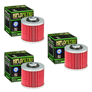 Hiflofiltro Oil Filter 3 Pack HF145 Yamaha XT250 XV250 XV500 XV535 XV700 XVS1100