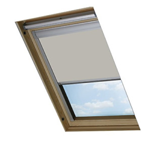 Bloc Skylight Blind for Velux Roof Windows Blockout, Fabric, Pale Stone, cm