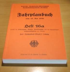 Fahrplanbuch DRB  15.5.1930    Heft 16a  (Hof-Leipzig)  Vitzau