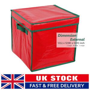 Christmas Storage Bag Round Ball Ornament Bauble Xmas Decoration Storage Box