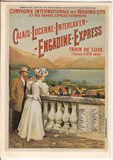 CARTE POSTALE REEDITION  PUBLICITAIRE AFFICHE ANCIENNE TRAIN DE LUXE CALAIS