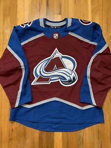 Adidas Authentic Team-Issued Colorado Avalanche On-Ice MiC Jersey Size 56